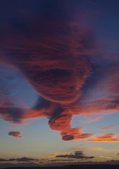Red Sky in Nairn Portrait - Scotland (SteveMcDonaldPhotography) Tags: nairn scotland uk clouds lenticularclouds red crimson blue beach sky dusk sunset
