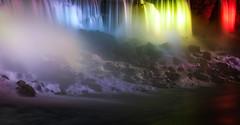 Light, Water, and Time (Jack Landau) Tags: american falls niagara light show lights night illumination illuminated waterfall water falling river rapids mist projection