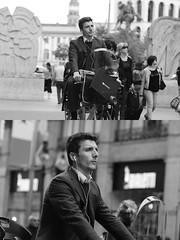 [La Mia Citt][Pedala] (Urca) Tags: milano italia 2016 bicicletta pedalare ciclista ritrattostradale portrait dittico bike bicycle nikondigitale mir biancoenero blackandwhite bn bw nn 89147