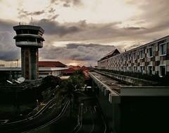 Bali airport sunset (SM Tham) Tags: asia indonesia bali airport ngurahraiinternationalairport controltower buildings roads sunset dusk sky clouds