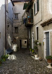 IMG_1418 (jsgcowley) Tags: europe italy sansebastiano alley lighting house texture town