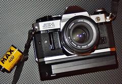 Canon AE-1 Program | Canon Power Winder A2 | Canon FD Lens 50mm 1 : 1 .8. | 35mm film slr (alfiegeephotography) Tags: canonpowerwindera2 canonlensfd50mm118 canonae1program vintagelenses vitageslr winder cameraporn kodakmax400 gear shootfilmnotmegapixels shootfilm serialshooter charityshopfind thriftstorefind