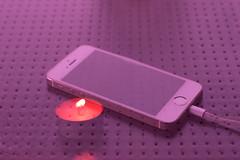 SOOC - Image overlay - in cam (Robin Penrose) Tags: 201609 sooc overlay nikon candle iphone patio table