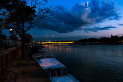 Riverside in Belgrade (Master Iksi) Tags: beograd belgrade river riverside riverwalk boat sky clouds bridge nature canon 700d srbija serbia street night sunset landscape