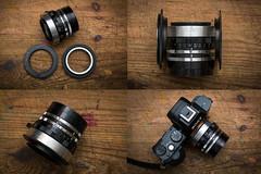 Yashinon 4.5cm f2.8 From Yashica J Rangefinder (Lens Bubbles) Tags: yashinon 45cm f28 yashica j rangefinder diy