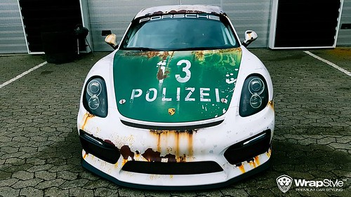 Porsche Cayman GT4 от WrapStyle
