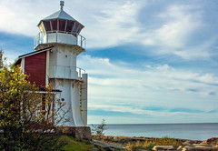 Autumn coast (Joni Mansikka) Tags: autumn nature sea seaside shore lighthouse bedrock sky clouds tree leaves colours outdoor landscape balticsea kallo pori suomi finland