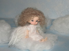 IMG_5249 (cat-soft paws) Tags: suitcase  people dress  indoor     realpuki clothes handmade  titi        angel wings sky clouds heaven air feathers
