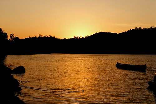 Praia fluvial do Alamal e o sunset