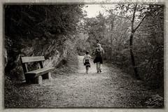 A walk by Lake Molveno (glank27) Tags: molveno lake walk trek mum child canon eos70d efs 1585mm karl glanville photography monochrome