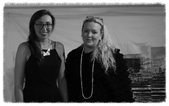 Gina & Ann-Marie (KeithJustKeith) Tags: gkgallery salford annmarie humphreys annmariehumphreyssalfordculturebezhappymondays tea room gina keithjustkeith keithjustkeith2016 blackandwhite groupshot people artists monochrome canon eos 100d artist gallery