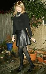 Inspired Look (Amber :-)) Tags: black pu skater skirt tgirl transvestite crossdressing