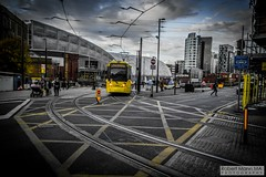 ManchesterVictoria2016.10.09-24 (Robert Mann MA Photography) Tags: manchester manchestervictoria manchestercitycentre greatermanchester england victoria victoriastation manchestervictoriastation manchestervictoriarailstation victoriarailstation city cities citycentre architecture summer 2016 sunday 9thoctober2016 manchestermetrolink metrolink trams tram nightscape nightscapes night light lighttrails