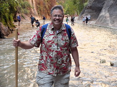 2016-09-p02-narrows-mjl-010 (Mike Legeros) Tags: ut utah zion zionnationalpark narrows river slotcanyon swiftwater wetfeet watchyourstep