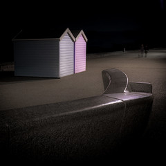 Together... (Rep001) Tags: beach huts westonsupermare somerset uk night dark d800 pastle 4751