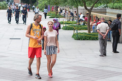 (yangkuo) Tags: candid jersey lakers gaze couple park fountain klcc