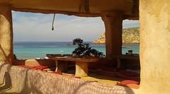 """Cala Comte (FE"""") Tags: sole mare isola tavoli bar cuscini ombre ibiza"""
