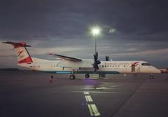 austrian airline (skaroly77) Tags: instagramapp square squareformat iphoneography uploaded:by=instagram rise vienna viennaairport austrianairlines austrianarrows dehavilland dhc8402q plane instalpane travel viennabudapest canon canon400d canonrebelxti wienflughafen