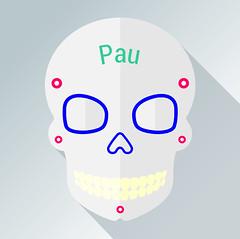 Pau (cygenta) Tags: avatar icono da de muertos calavera skull candy flat design gris grey nombre name tradicin tradiciones noviembre halloween mxico amrica latina octubre 2016