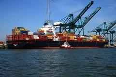 UASC Al Khor DST_4554 (larry_antwerp) Tags: psa psaterminal container uascalkhor uasc nyk nykdeneb mpet antwerp antwerpen       port        belgium belgi          schip ship vessel        schelde