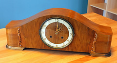 Old Clock (Schwanzus_Longus) Tags: old clock time wood wooden uhr mechanical pendulum gong vintage