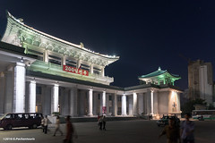 Pyongyang Grand Theatre at night (George Pachantouris) Tags: dprk north korea pyongyang kim ilsung jongil jongun communism socialism