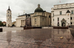 DSC_8654 (Adrian Royle) Tags: lithuania vilnius travel holiday city urban palace cathedral stone reflection
