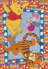 Alphabet RR W36 (Lillie's Postcards (thehexwitch)) Tags: postcard received postcrossing winnie pooh adorable art tiger piglet joey disney