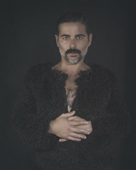 When you can not express, looks are loaded words. (jcalveraphotography) Tags: portrait photo photographer projects myself man model selfportrait selfie studio moustache