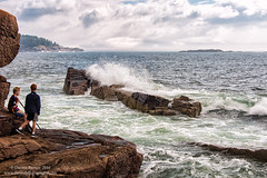 Exploring Acadia (Dwood Photography) Tags: exploring acadia exploringacadia dwoodphotography dwoodphotographycom national park acadianationalpark np maine 2016 atlantic ocean atlanticocean brown white blue green wave rock rocks kid kids friends