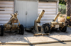 mortars (2) (maskirovka77) Tags: israeldefenseforces idf museum idfmuseum tanks m48 outdoors hdr armoredcar artillery antiaircraft armoredpersonnelcarrier bridgingequipment