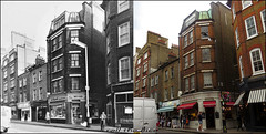 Wardour Street`1976-2016 (roll the dice) Tags: london westminster w1 redlight porn gay soho westend seedy bread architecture streetfurniture shops shopping fashion lights sad mad alley old local history bygone retro nostalgia comparison oldandnew pastandpresent hereandnow closed gone vanished demolished chimney seventies canon flickr tourism cakes brunch windows plants girls whitevan deli sandwich sprinter