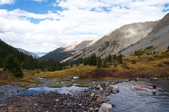 Worth the hike (emily-mcb) Tags: colorado hotspring hike backpacking fall aspen colors