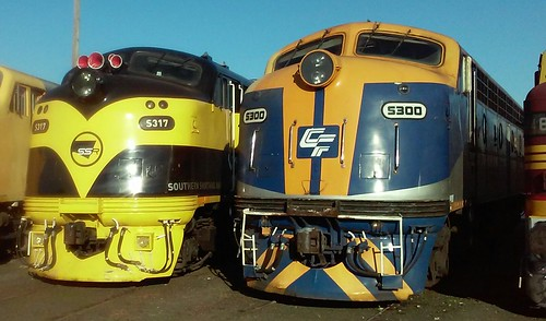 S317 Southern Shorthaul Railroad & S300 California Freight Car Leasing - liveries.