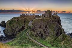 Dunotter Sunrise (JSP92) Tags: scotland unitedkingdom gb dunnotter castle historic sunrise dawn cloud golden colour path leading line