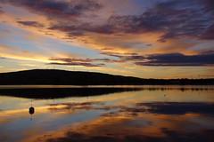 Far away (brittajohansson) Tags: outdoor landscape waterscape sky clouds water lake dusk sunset waterfront serene midsummer night light sweden