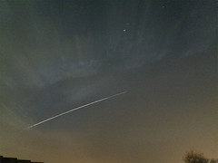 International Space Station 15.10.16  19:11 (andystones64) Tags: astro imagecapture stars international space station orbit movement iss image nightcap pro app iphoneastronomy iphoneography clouds wonders night motion uk flight iphone evening sunlit lighttrail nlincs iphone6 imageof scunthorpe sky