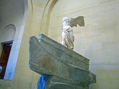 The Louvre - Winged Victory of Samothrace (bronxbob) Tags: paris thelouvre wingedvictoryofsamothrace nikeofsamothrace wingedvictory sculpture ancientgreekart france museums artmuseums