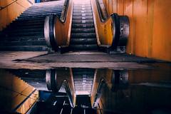 Reflection (Master Iksi) Tags: reflection stairs underground orange water belgrade beograd canon 700d srbija serbia amazing lights darks street sidewalk