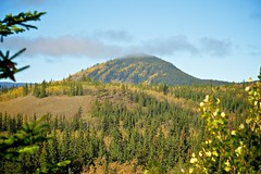 Mountain at Rowlinson Creek (MIKOFOX  Show Your EXIF!) Tags: canada fujifilmxt1 yukon aspen mountains fall spruce landscape xt1 september showyourexif mikofox xf18135mmf3556rlmoiswr
