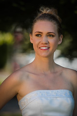 Happy Bride (Maxinux40k) Tags: 2016 afs70200mmf28gvr april california d810 headshot mitchellcipriano nikkor nikon paloalto people portrait spring bride dress outdoor park wedding white