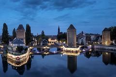la nuit (camerue) Tags: strasbourg alsace elsass longexposure night lights blue cityscape autumn
