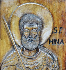 Detail Woodcut Door, Bisericii Sfantul Mina (Miranda Ruiter) Tags: brasov romania church religion orthodox woodcut iconography icons art transsylvania