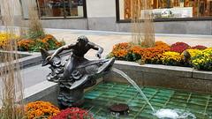 2016-10-19 - Rockefeller Center - Channel Gardens - Fountainhead (zigwaffle) Tags: 2016 nyc newyorkcity manhattan timessquare rockefellercenter saintpatrickscathedral fifthavenue wretchedexcess centralpark