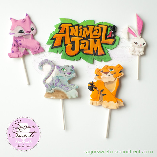 Animal Jam Cake Toppers