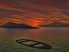 The boat in the sea. (driver Photographer) Tags: 3d