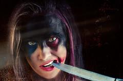 Hey Puddin (ThroughTamsEyes) Tags: 13nightsofhalloween halloween harleyquinn makeup knife scary woman girl