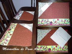 jogo americano em patchwork (Maravilhas de Pano Ateli) Tags: patchwork jogo americano flickrandroidapp:filter=none