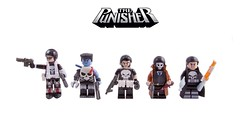 The Many Guises of the Punisher (Hammerstein NWC) Tags: lego knife minifig custom marvel smg decals proto punisher minifigure brickarms brickforge pyromaster auto9 frankencastle protoz punishercaptainamerica punisherangel punishernoir