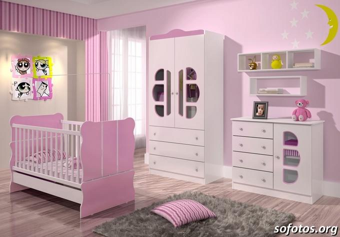 Quarto de bebê rosinha